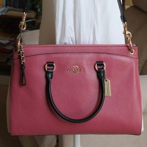 Coach Mia Satchel - Colorblock Rouge Multi